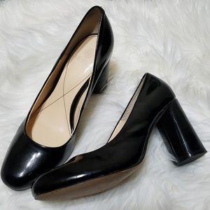 Isola Black Patent Leather Eleni Pumps 8.5M